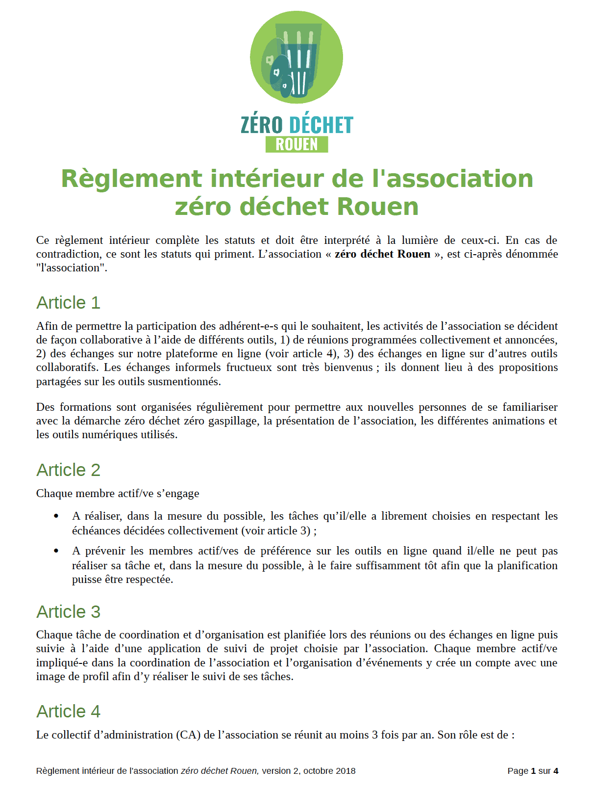reglement 1